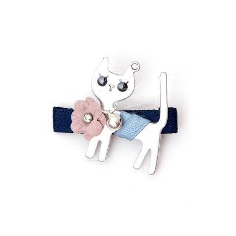 Blue kitten hair clip