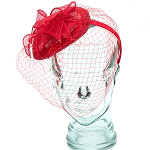 Red Anastasia Fascinator - for women