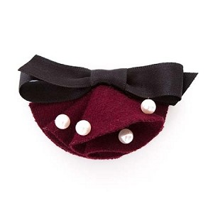 Burgundy/ Black Fannie Hair Clip - for all ages