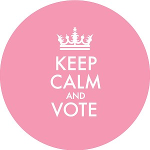 Keep Calm and Vote - Pink