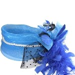 Blue Amanda Fascinator - for women