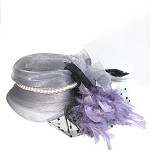 Gray Amanda Fascinator - for women