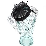 Black Anastasia Fascinator - for women