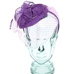 Purple Anastasia Fascinator - for women