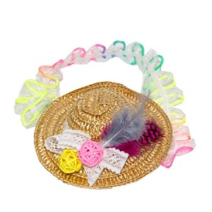 Straw Hat Baby Headband - for 6-12 months