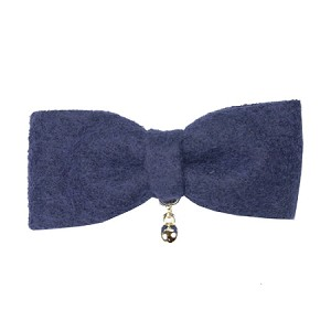 Navy Bowe Hair Clip - for girls and boys