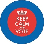 Keep Calm and Vote - Red