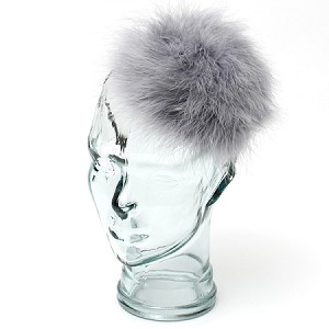 Gray Caroline Fascinator - for teens and women