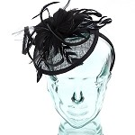 Black Eve Fascinator - for women