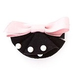 Black/ Pink Fannie Hair Clip - for all ages