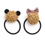 Gold He and She Pigtail Holders - for all kids