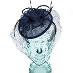Navy Blue Janice Fascinator - for women