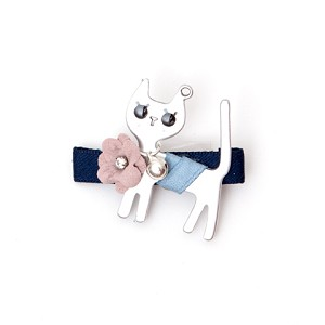 Blue Kitty Hair Clip - for all ages