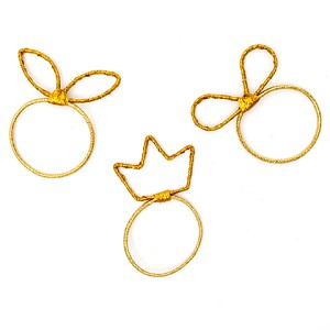 Gold Lucky Ponytail Holders - for kids