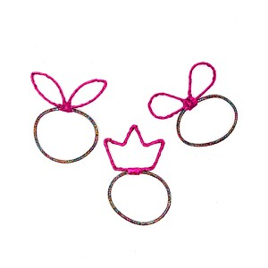 Magenta Lucky Ponytail Holders - for kids
