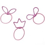 Rose Lucky Ponytail Holders - for kids