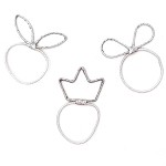 Silver Lucky Ponytail Holders - for kids