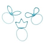 Turquoise Lucky Ponytail Holders - for kids