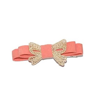 Peach Lucy Hair Clip - for girls