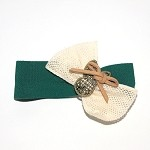 Hunter Green Maple Hair Clip - for girls