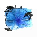 Blue Margaret Fascinator - for women