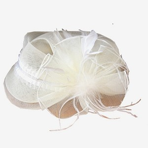 Ivory Margaret Fascinator - for women