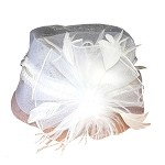 White Margaret Fascinator - for women