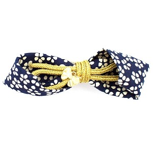 Navy Miki Hair Clip - for all ages