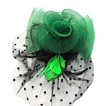 Green Molly Fascinator - for women
