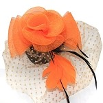 Orange Molly Fascinator - for women