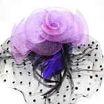 Purple Molly Fascinator - for women