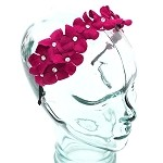 Fuchsia Nadia Headband - for all ages