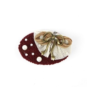 Burgundy Nona Hair Clip - for all ages