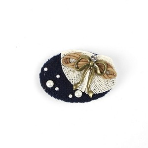Navy Nona Hair Clip - for all ages