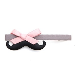 Pink Bow and Grey Nova Hair Clip - for all ages