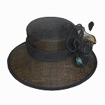 Black Rebecca Hat - for women