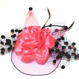 Hot Pink Regine Fascinator - for women