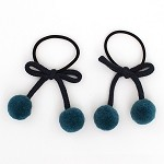 Teal Saloni Pigtail Holder - for girls