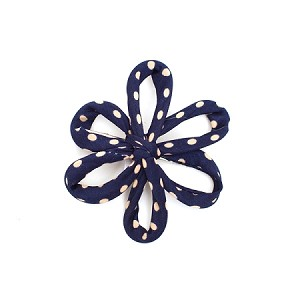 Navy Savannah Hair Clip - for all ages
