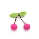 Raspberry Sherry Hair Clip - for kids