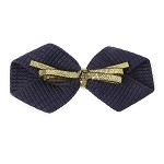 Navy Simone Hair Clip - for all ages