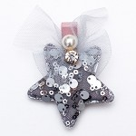 Silver Stella Hair clip - for all kids