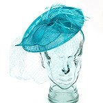 Aqua Valerie Fascinator - for women