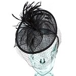 Black Valerie Fascinator - for women