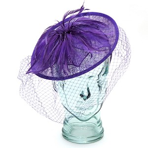 Purple Valerie Fascinator - for women