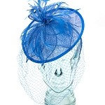 Royal Blue Valerie Fascinator - for women