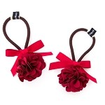 Ruby Zinnia Pigtail Holder - for girls