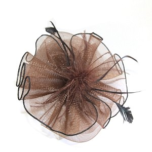 Brown Zoe Fascinator - for women